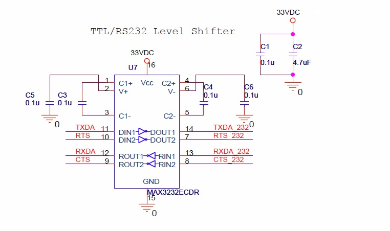 RS232 Level shifter (schematic)